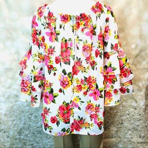Women NWT Speed Limit, floral blouse , size 1X